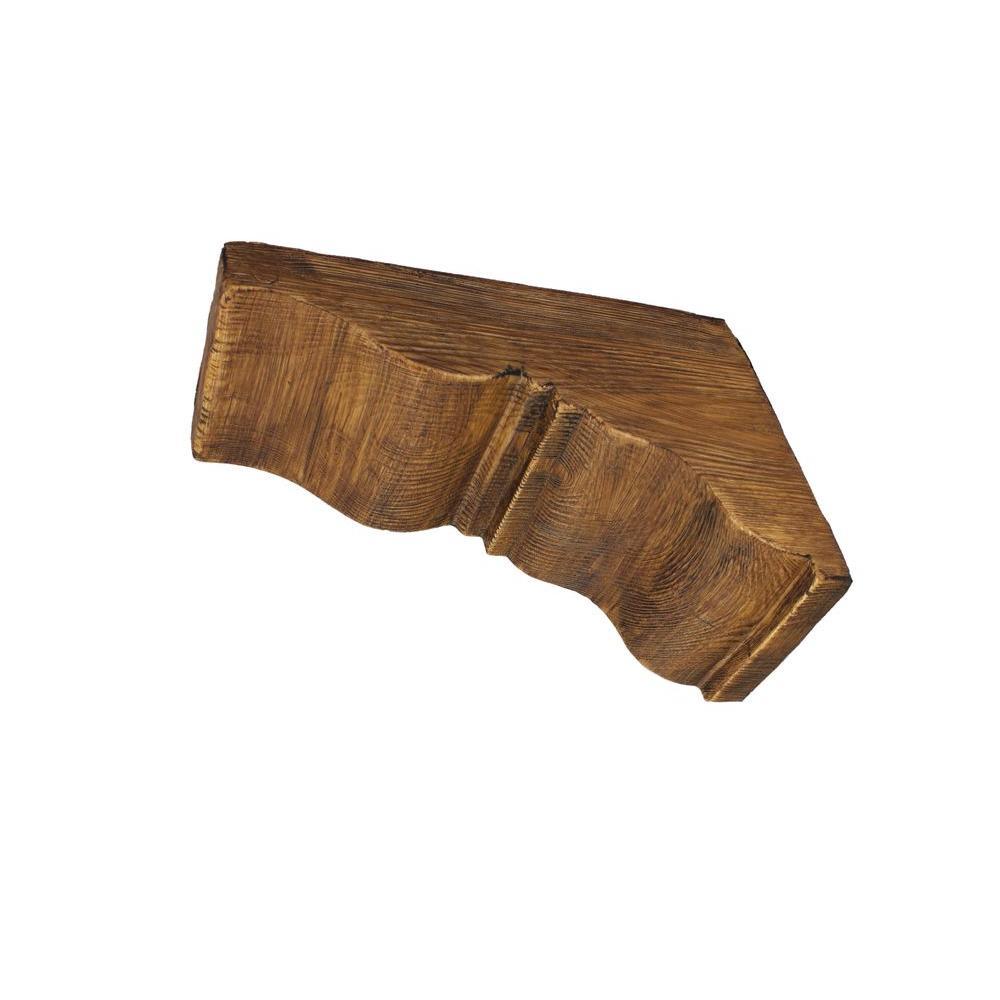 null 17-3/4 in. x 17-3/4 in. x 7-1/2 in. Prefinished Polyurethane Raised Grain Faux Wood Corbel