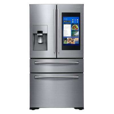 21.9 cu. ft. Family Hub 4-Door French Door Smart Refrigerator in Stainless Steel, Counter Depth