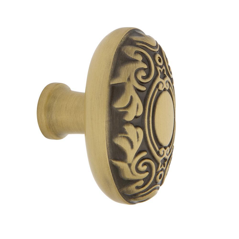 Victorian 1-3/4 in. Antique Brass Cabinet Knob