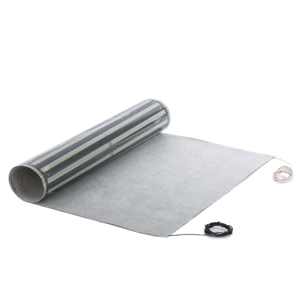 IdealHeat 7 ft. x 36 in. 110-Volt Radiant Floor Heat Film with Anti ...
