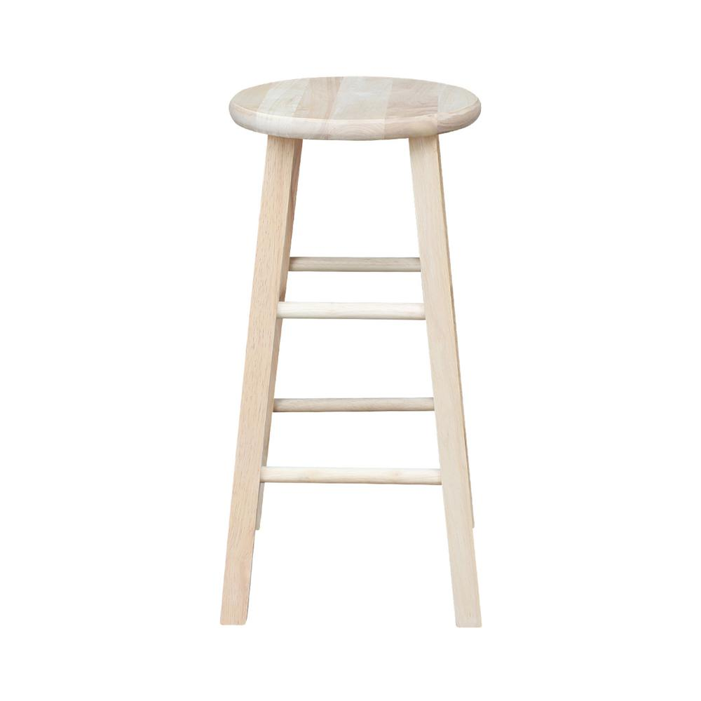 International Concepts 24 In Unfinished Wood Counter Stool 1s 524 The Home Depot