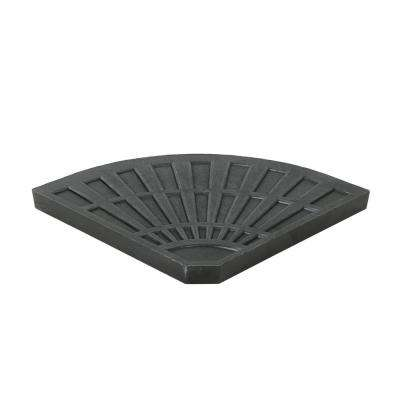 Isla 30.12 lbs. Resin Patio Umbrella Base in Brushed Black