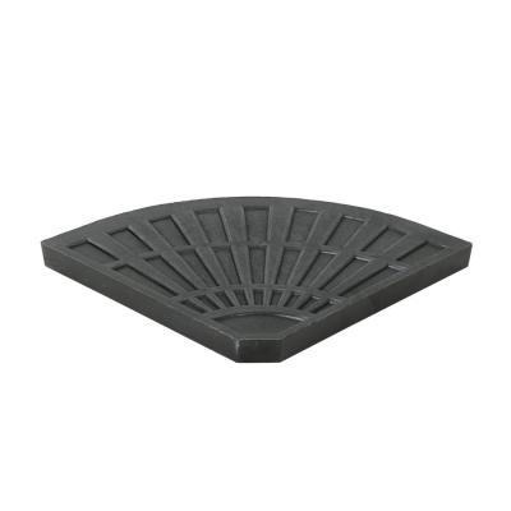 Isla 30.12 lbs. Resin Patio Umbrella Base in Brushed Black