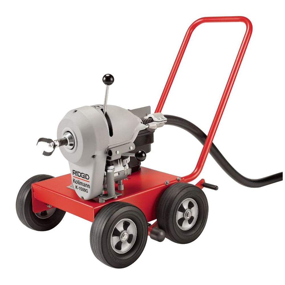 RIDGID K-1500G1 6 HP Drain-Cleaning Machine with C-14 Cable