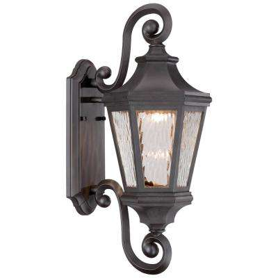 Hanford Pointe 21.75 in. Oil-Rubbed Bronze Outdoor Integrated LED Wall Mount Lantern