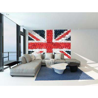 118 in. x 98 in. Union Brick Wall Mural