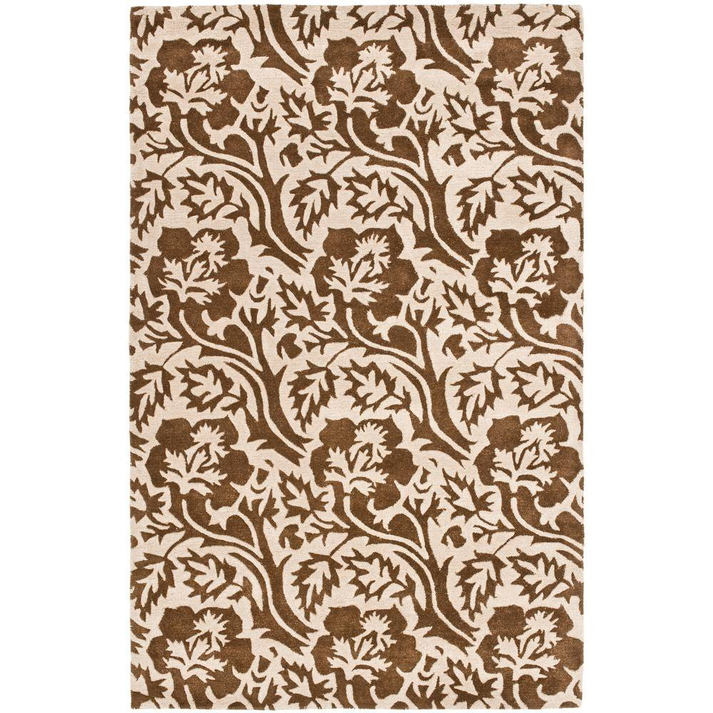Soho Brown/Ivory 5 ft. x 8 ft. Area Rug