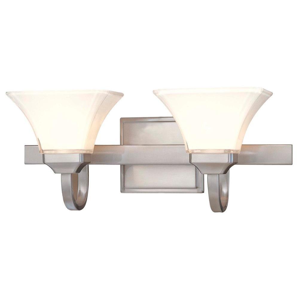 Agilis 2-Light Brushed Nickel Bath Light