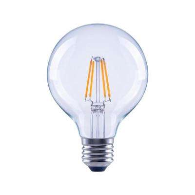 60-Watt Equivalent G25 Globe Dimmable Energy Star Clear Glass Filament Vintage Style LED Light Bulb Daylight (48-Pack)