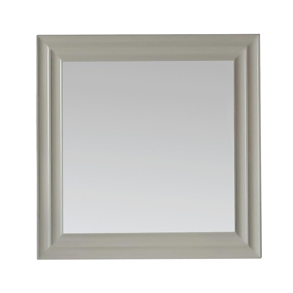 Martha Stewart Living Parker 28 in. x 28 in. Framed Wall Mirror in Bedford Grey