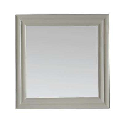 Parker 28 in. x 28 in. Framed Wall Mirror in Bedford Grey