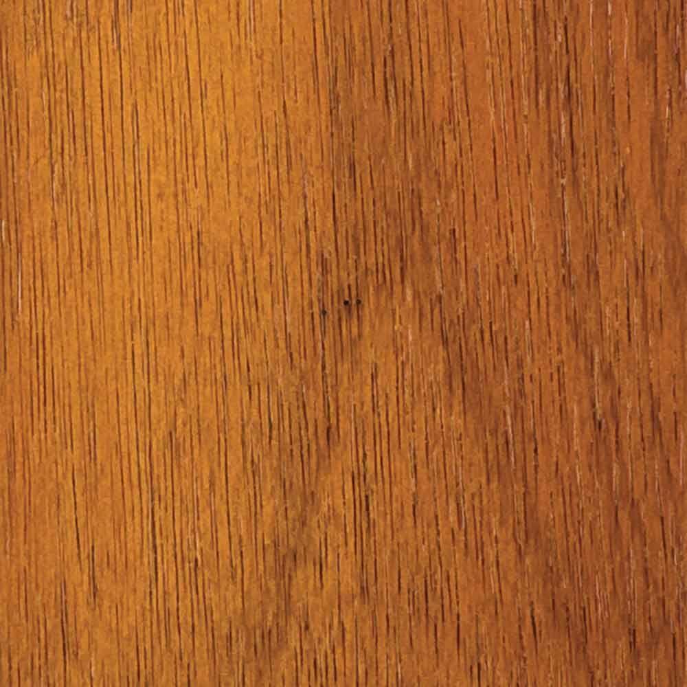 4 in. x 3 in. Wood Garage Door Sample in Luan with Teak 085 Stain