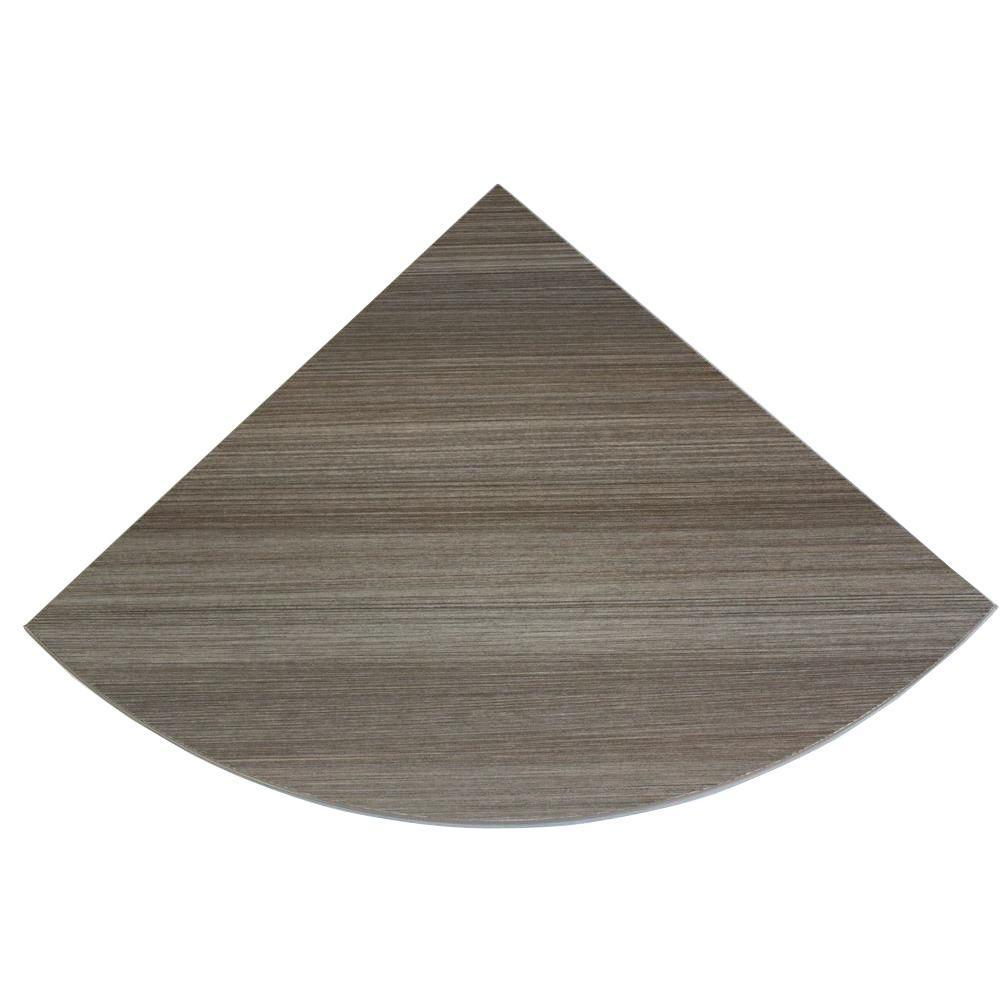 12 in. x 12 in. x 3/4 in. Driftwood Lite Corner Shelf