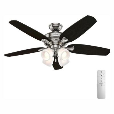 Channing 52 in. Indoor LED Brushed Nickel Smart Ceiling Fan with Light and WINK Remote Control