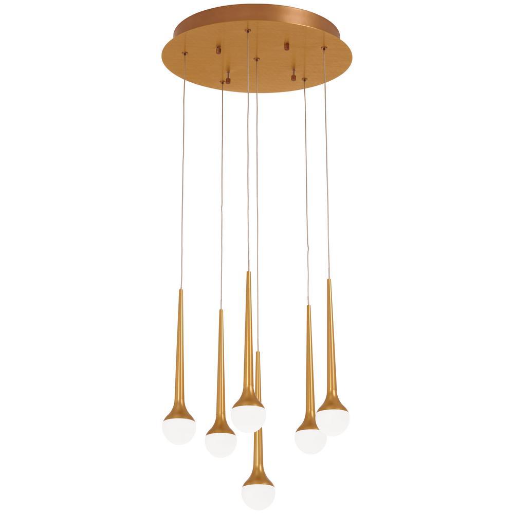 Honey Drip 100-Watt Equivalence Integrated LED Sunset Gold Pendant