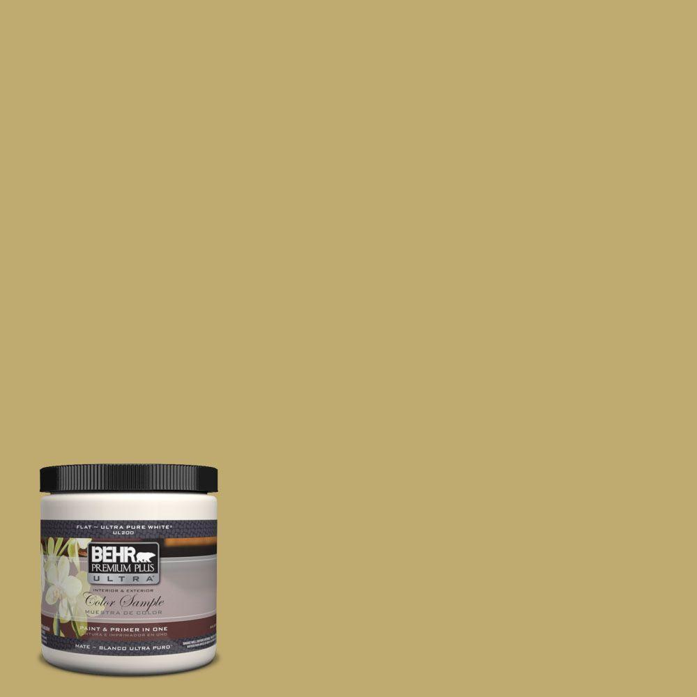 BEHR Premium Plus Ultra 8 oz. #370F-5 Coriander Seed Matte Interior/Exterior Paint and Primer in One Sample
