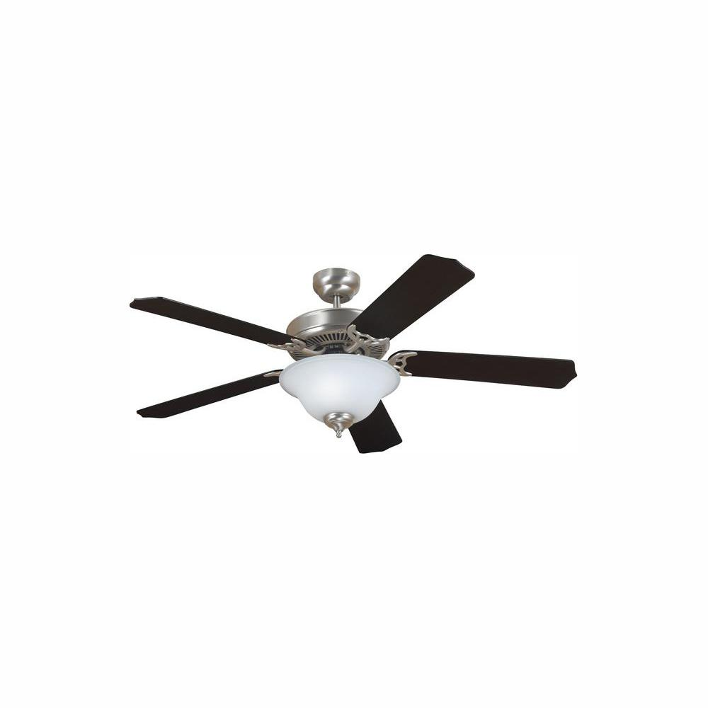 Sea Gull Lighting Quality Max Plus 52 in. LED Brushed Nickel Ceiling Fan