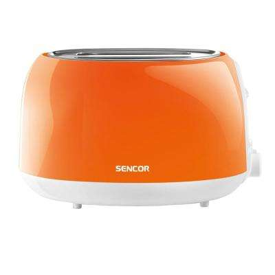 2-Slice Solid Orange Toaster