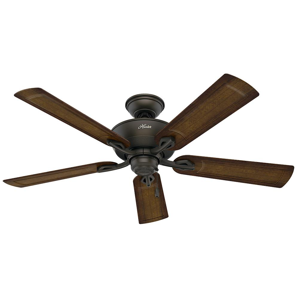 Hunter Caicos 52 in. Indoor/Outdoor New Bronze Wet Rated Ceiling Fan