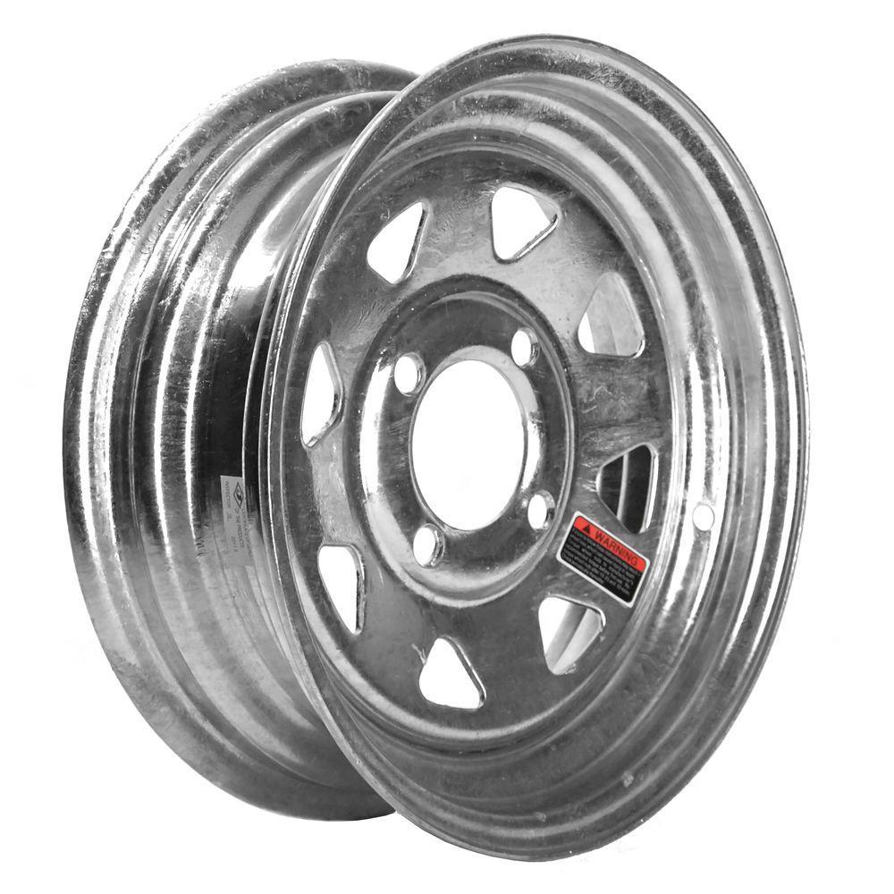 12x4 4-Hole 12 in. Galvanized Steel Trailer Wheel/Rim