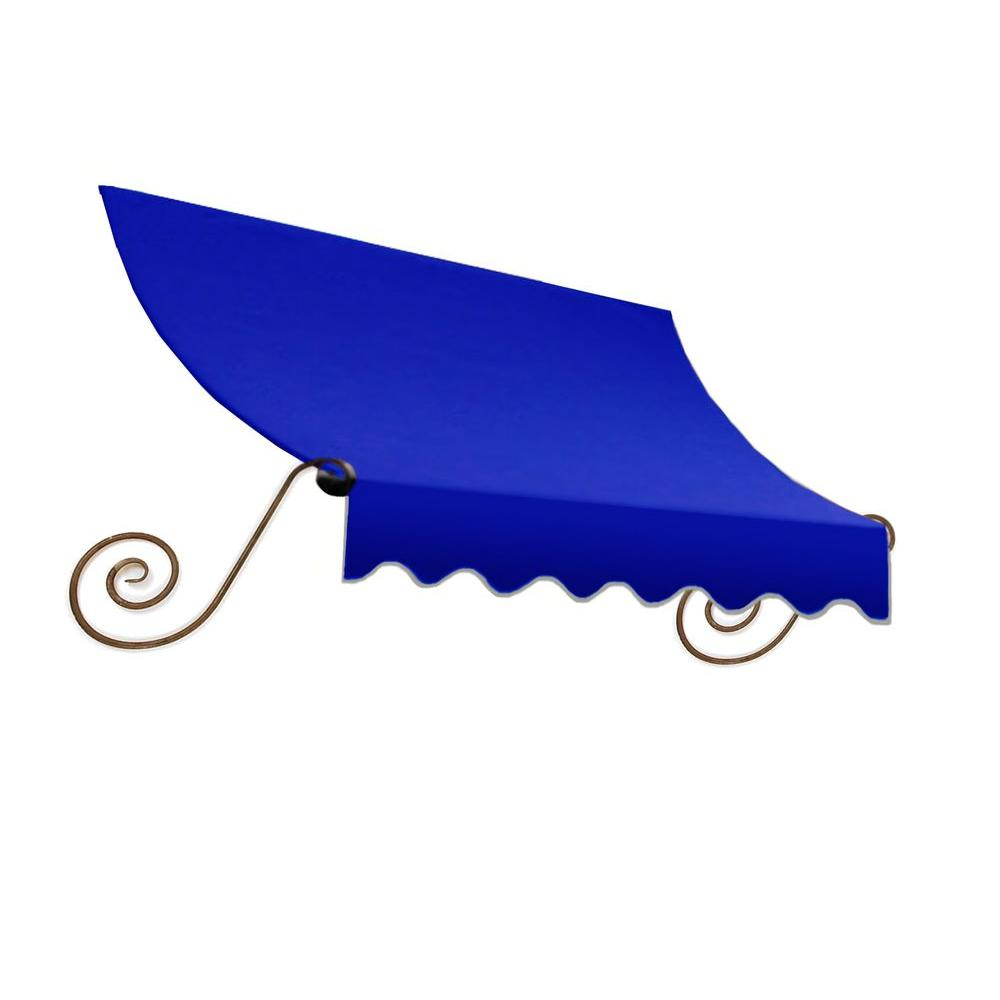 AWNTECH 8 ft. Charleston Window Awning (24 in. H x 12 in. D) in Bright Blue