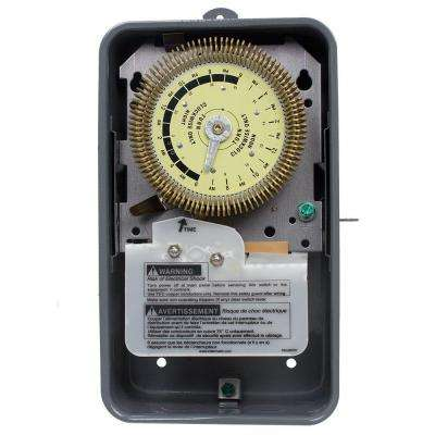 T1900 Series 20 Amp 24-Hour Heavy Duty Mechanical Time Switch with Steel Outdoor Enclosure - Gray
