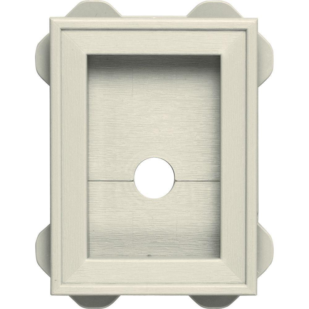 Builders Edge 5.5 in. x 8.625 in. #082 Linen Wrap Around Mounting Block