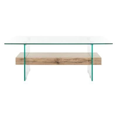 Kayley Natural/Glass Coffee Table