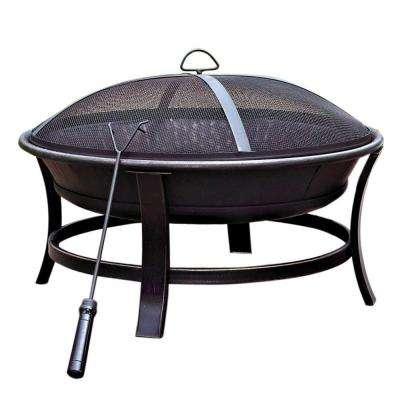 30 in. Golden Brush Windsor Steel Fire Pit