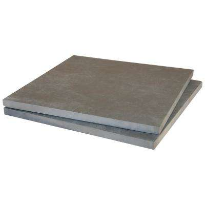 Porto 16 in. x 16 in. x 0.79 in. Glazed Anthracite Porcelain Paver Tile (1.777 sq. ft.)