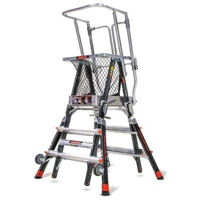 3 ft.-5 ft. Fiberglass 375 lbs. Rated Type IAA Adjustable Safety Cage