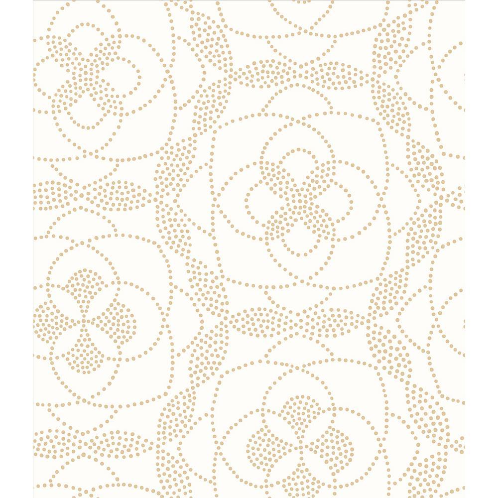 A-Street Cosmos Gold Dot Wallpaper Sample 2697-22635SAM