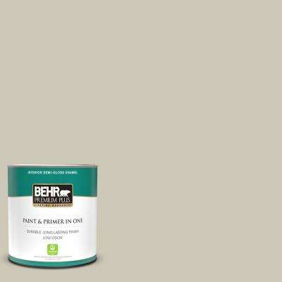 1 qt. #PPU8-16 Coliseum Marble Semi-Gloss Enamel Low Odor Interior Paint and Primer in One