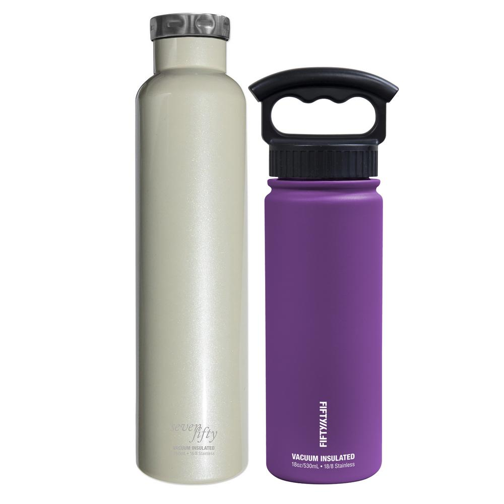 Celebrate Summer Hydrating Insulated Bottle Bundle, Pearl and Purple