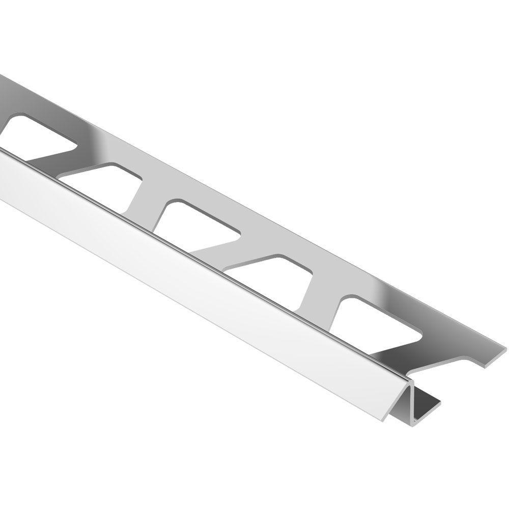 Schluter Reno-TK Stainless Steel 7/16 in. x 8 ft. 2-1/2 in. Metal Reducer Tile Edging Trim
