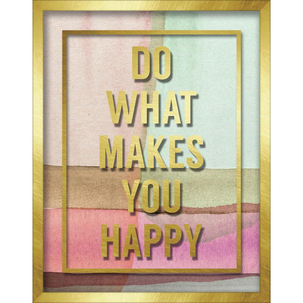 "Linden Ave 11 in. x 14 in. ""Do What Makes You Happy"" Shadowbox Wall ..."