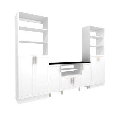 White Storage Entertainment Center Kit