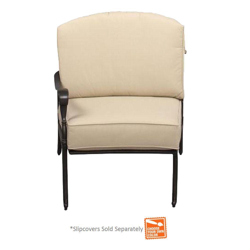 Hampton Bay Edington Left Arm Patio Sectional Chair with ...