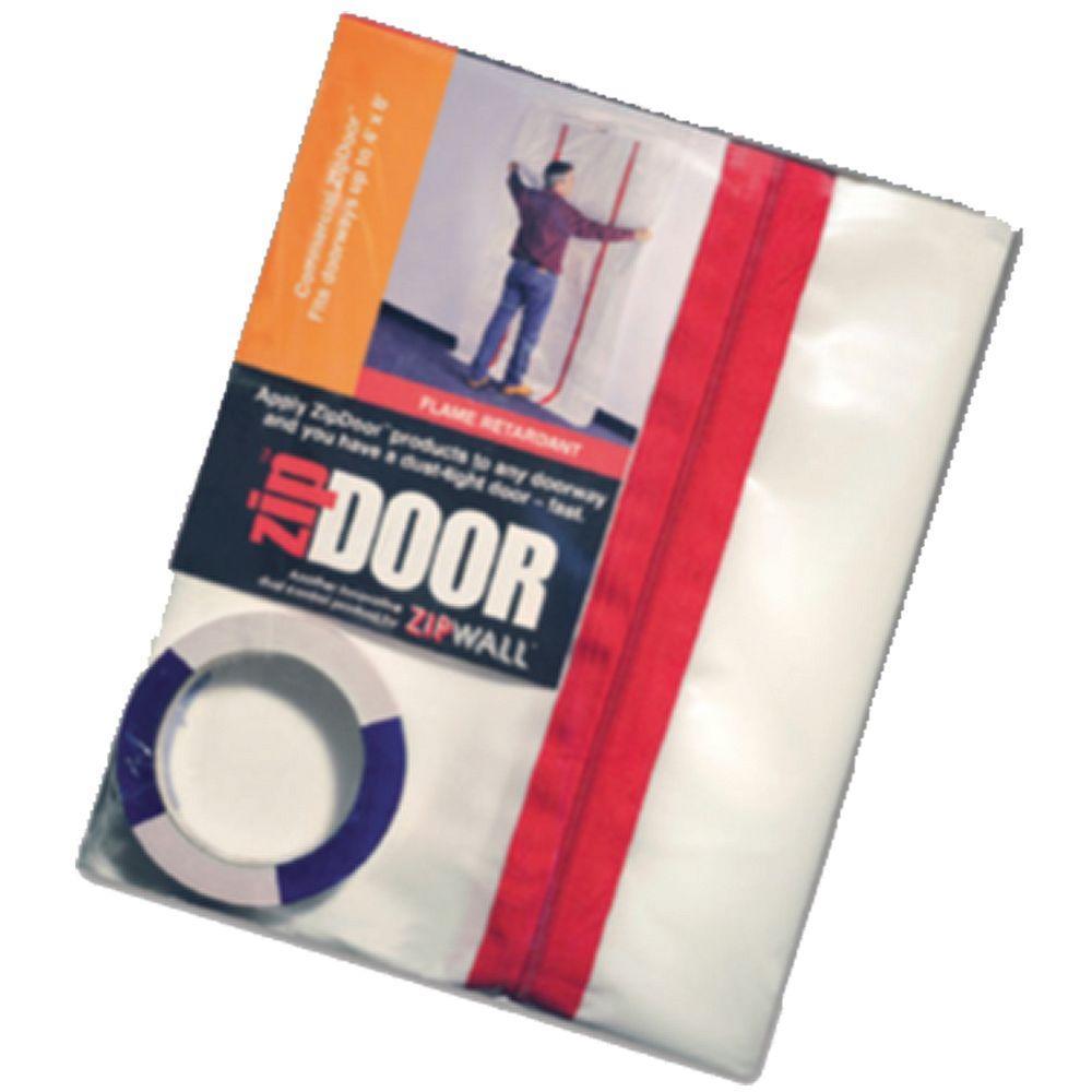 Zipwall zdc 4 ft x 8 ft zipdoor commercial 206624 the for Window zipper home depot
