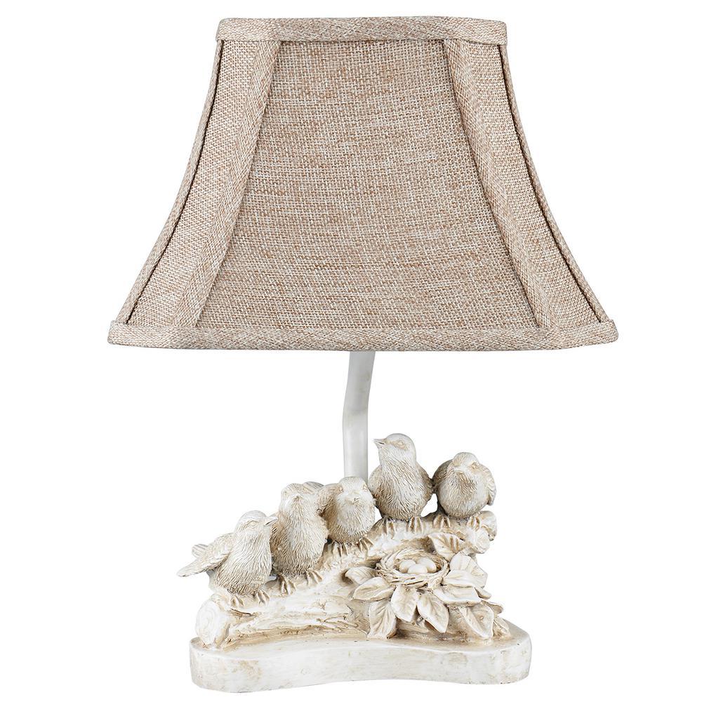13 in. White Novelty Lamp