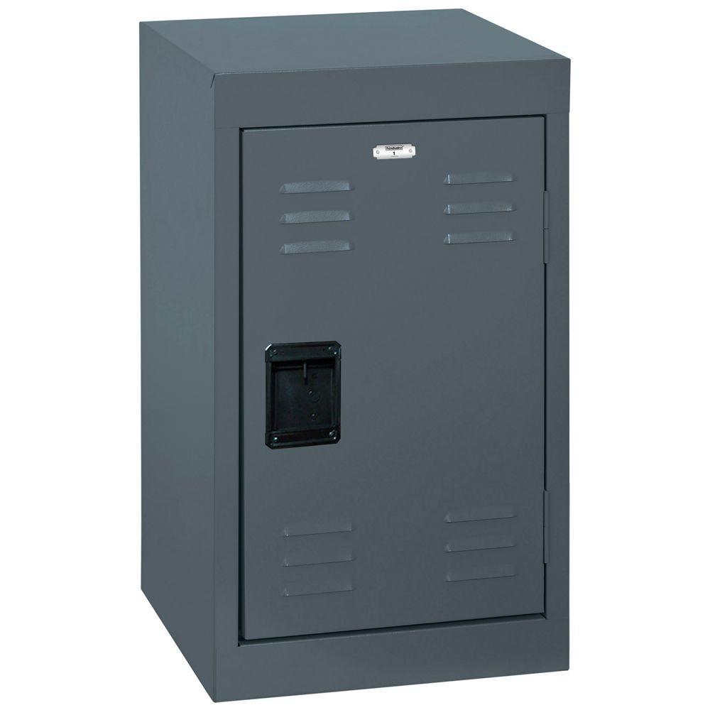 24 in. H Single-Tier Welded Steel Storage Locker in Charcoal