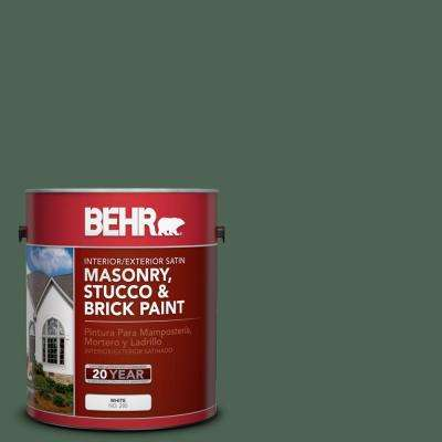 1-gal. #MS-62 Parkside Pines Satin Interior/Exterior Masonry, Stucco and Brick Paint