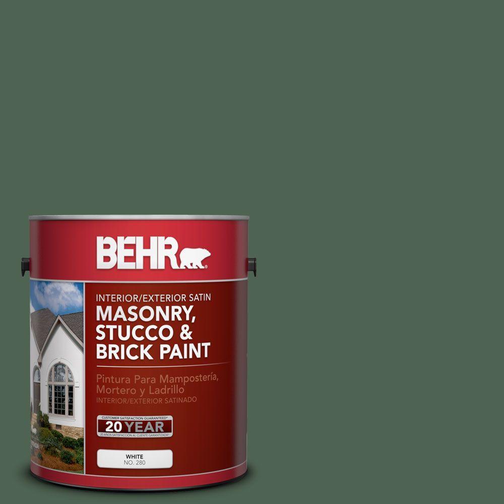 1-gal. #MS-62 Parkside Pines Satin Interior/Exterior Masonry, Stucco and Brick Paint