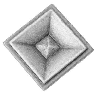 Holden Assembled 1.4 x 1.4 x 1 in. Wall Square Mitered Cabinet Knob in Antique Pewter