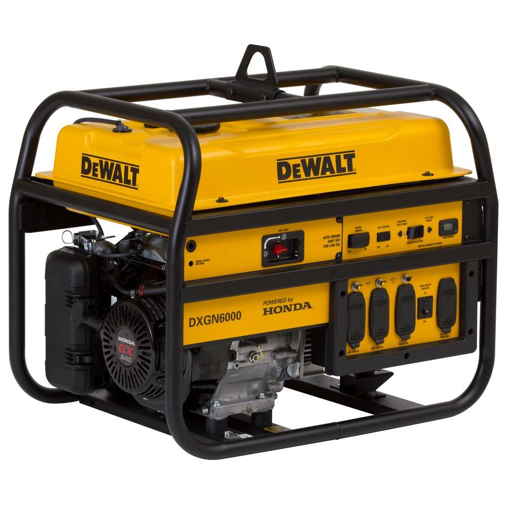 5300-Watt Gasoline Powered Manual Start Portable Generator with Honda Engine