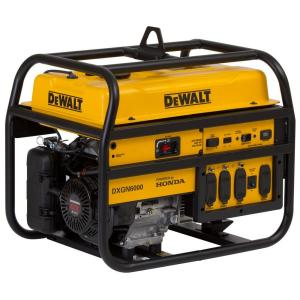 Dewalt 6,000-Watt Gasoline Powered Manual Start Portable Generator with Honda Engine by DEWALT