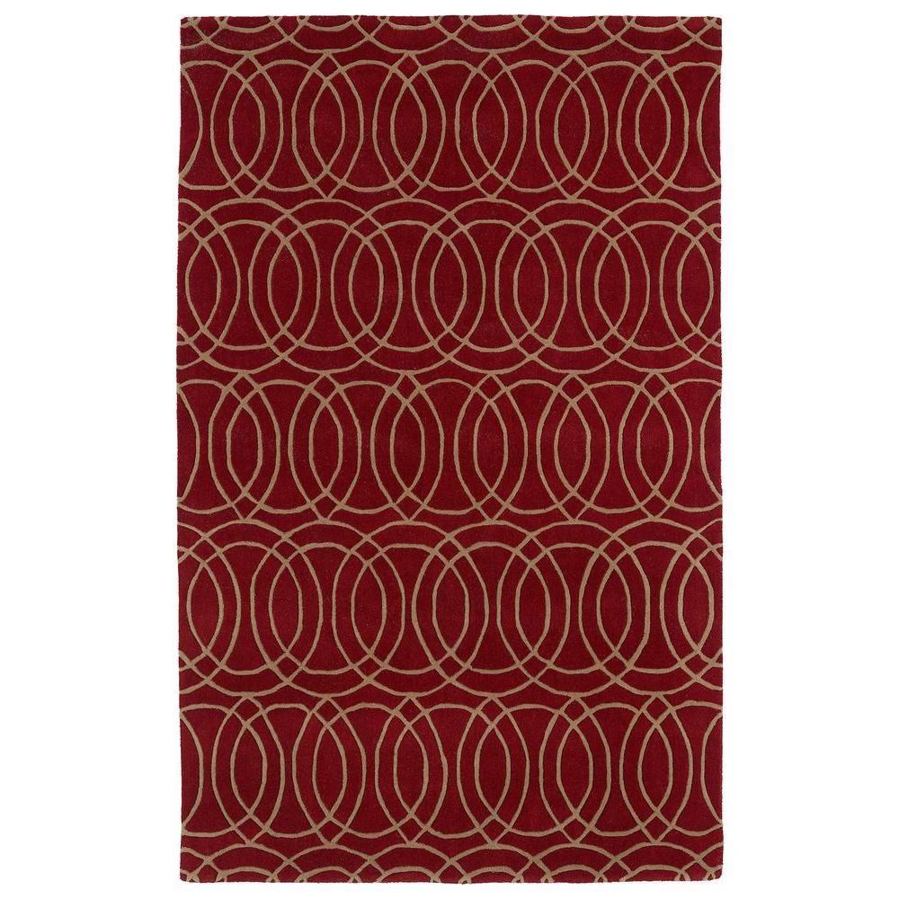 Kaleen Revolution Red 5 ft. x 7 ft. 9 in. Area Rug
