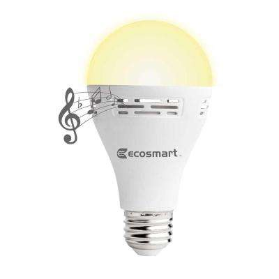 40-Watt Equivalent A21 Non-Dimmable Smart Bluetooth Speaker LED Light Bulb, Soft White