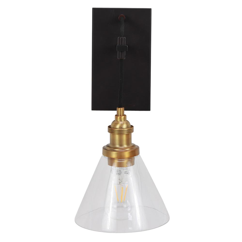 Decor Therapy Vincent 11 In Black And Gold Sconce Wl1137 The Home
