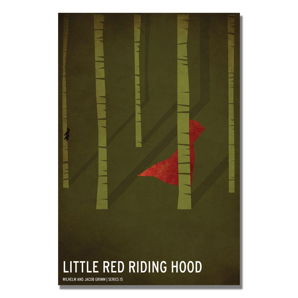 24 in. x 36 in. Red Riding Hood Canvas Art
